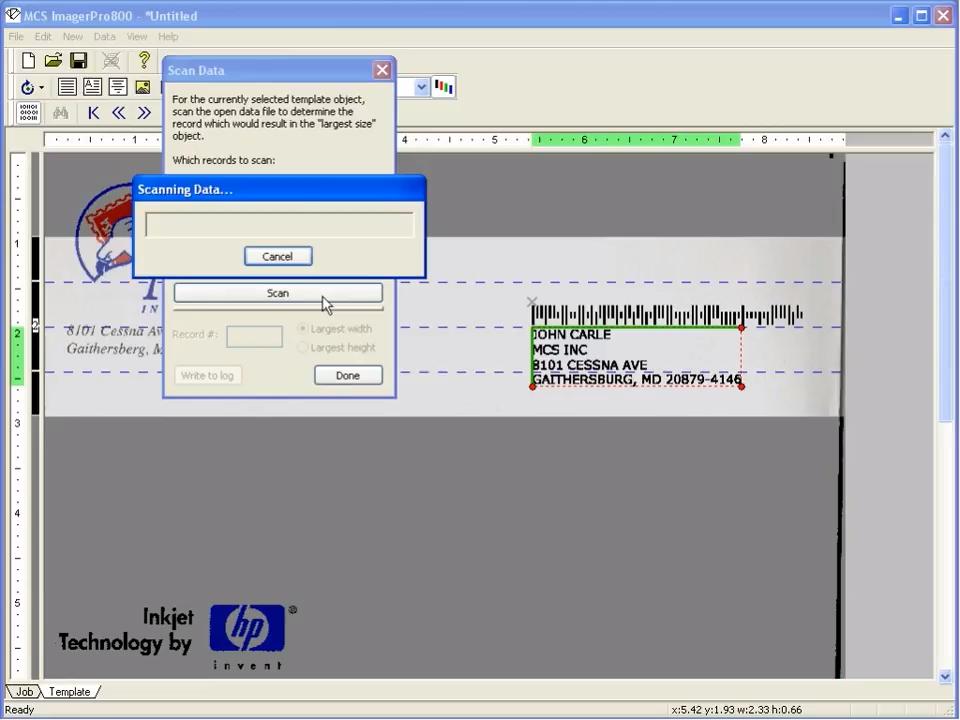 MCS: Software Print Proof Demo