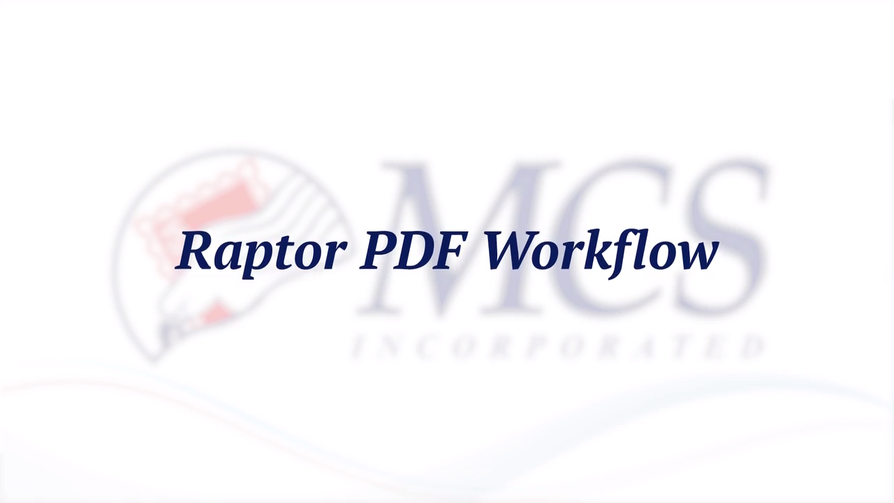 MCS Raptor PDF Workflow