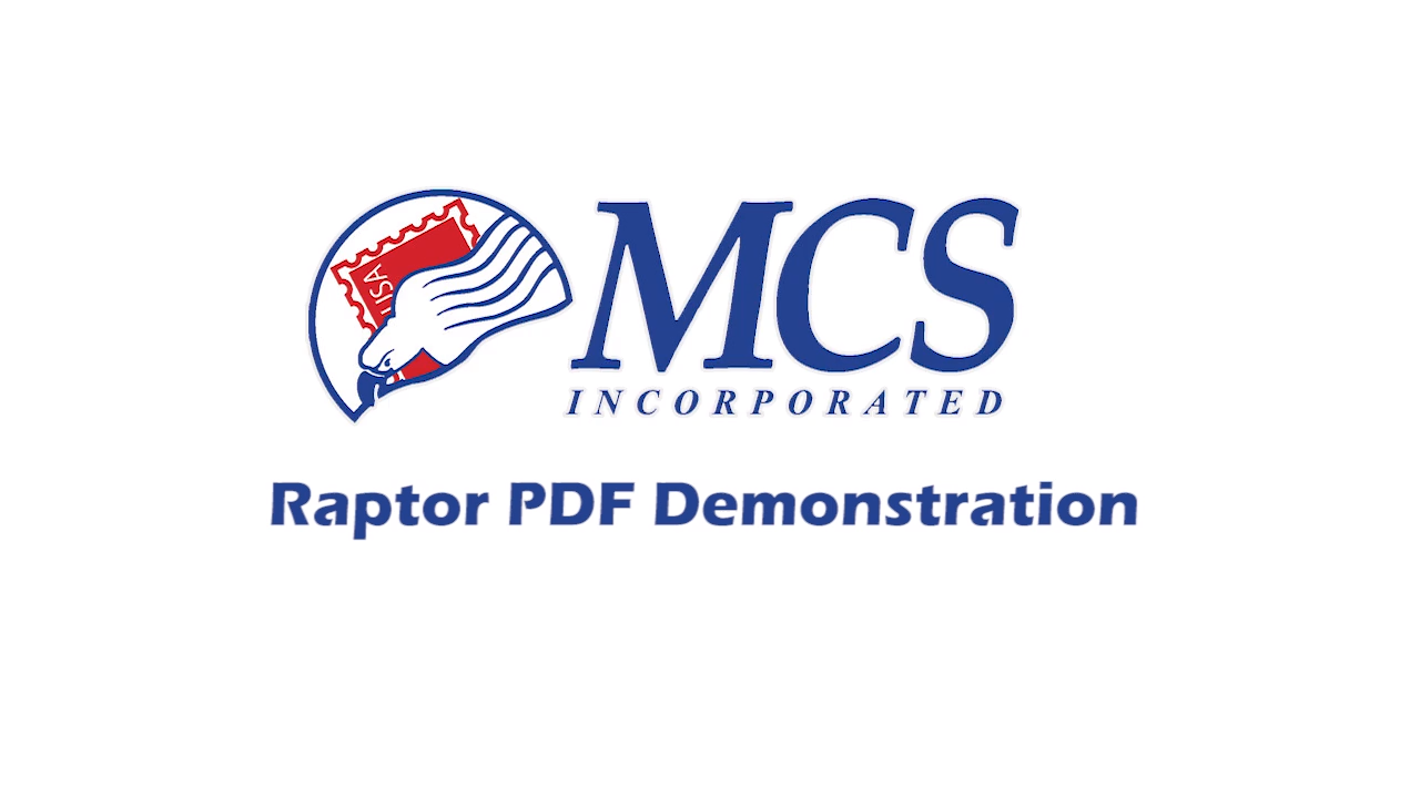 MCS Raptor PDF demonstration