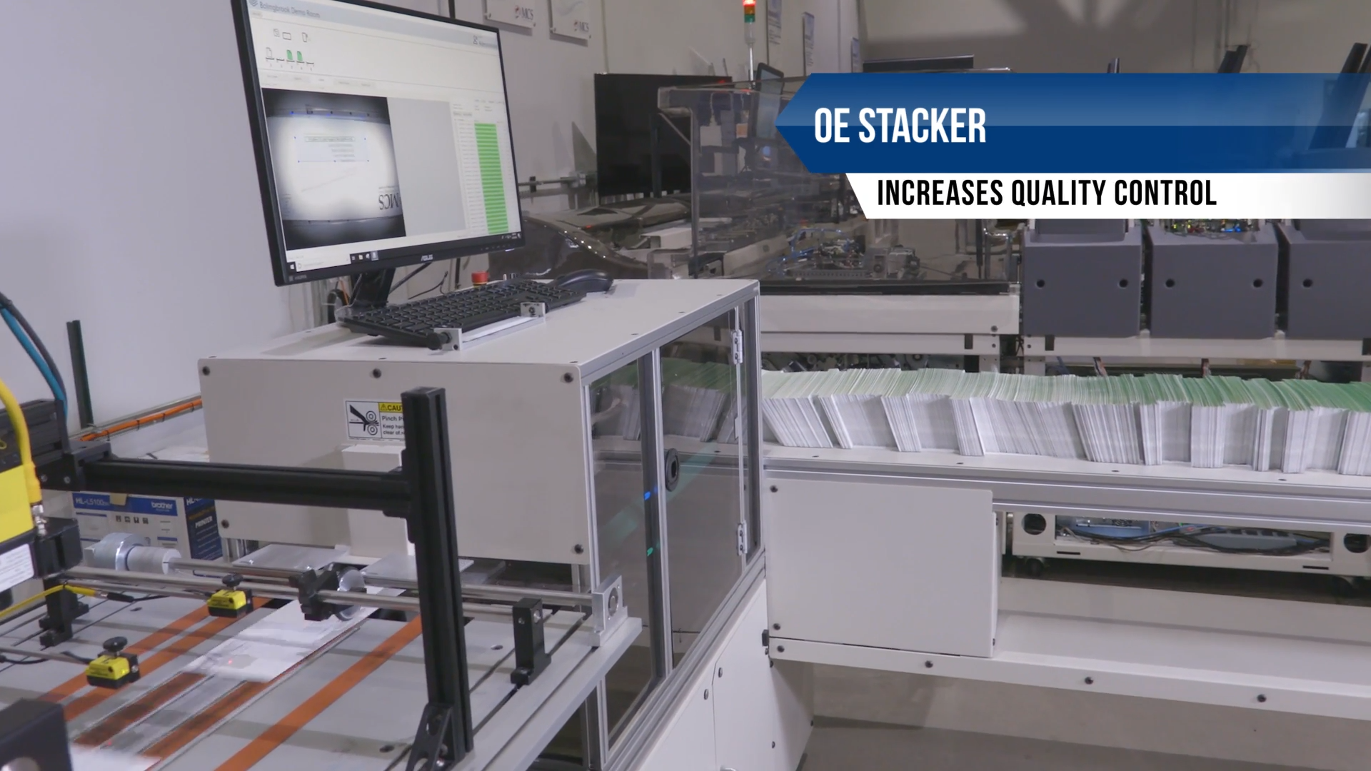MCS On Edge Stacker for Inserters